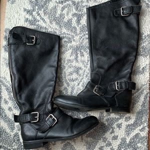 Dolce Vita black leather riding boots